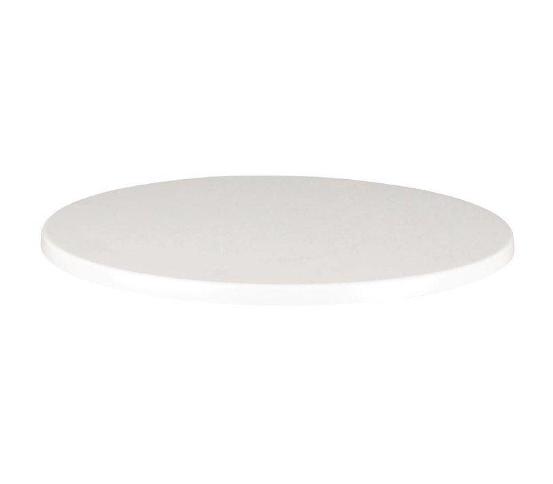 XXLselect Werzalit wit tafelblad, rond 70cm