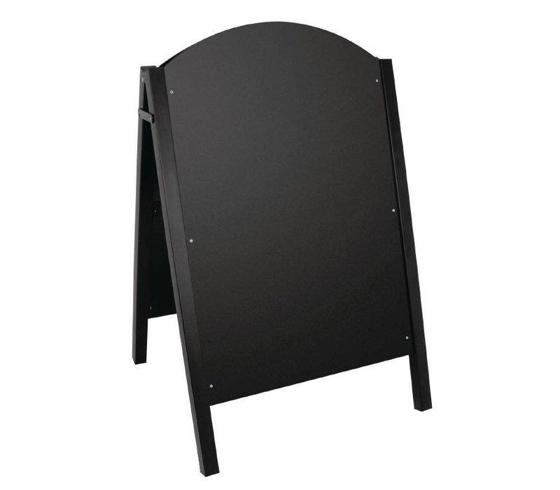 XXLselect Stoepbord Zwart | Metalen Frame | 660x675x1025(h)mm