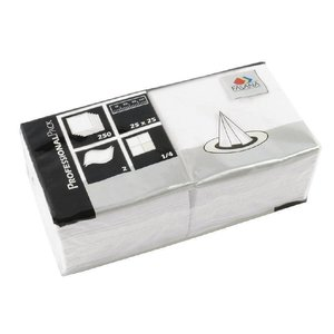 XXLselect Papieren Servetten Wit | 2-Laags | 250x250mm | Per 1500 stuks