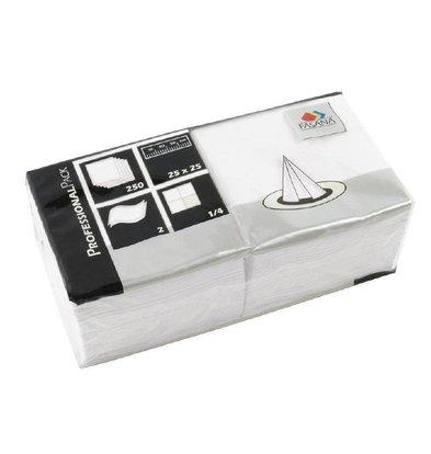 Fasana Papieren Servetten Wit | 2-Laags | 250x250mm | Per 1500 stuks