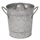 XXLselect Ice bucket Galvanized + Cover | 3.4 liter