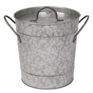 XXLselect Eiskübel Verzinkte + Abdeckung | 3,4-Liter