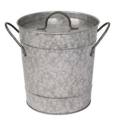 Olympia Ice bucket Galvanized + Cover | 3.4 liter