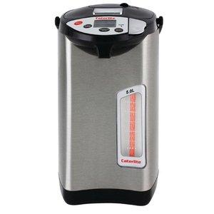 XXLselect Heetwaterdispenser RVS | 5 Temperaturen | Elektrische Pompkan | Ø300mm | 5 Liter
