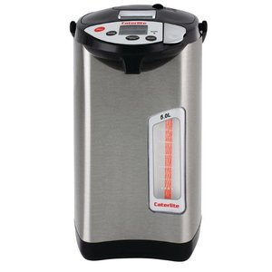 XXLselect Hot Water Dispenser Edelstahl | 5 Temperaturen | Elektrisch mit Pumpe | Ø300mm | 5 Liter
