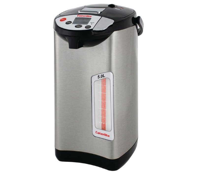 XXLselect Hot Water Dispenser Edelstahl   5 Temperaturen   Elektrisch mit Pumpe   Ø300mm   5 Liter