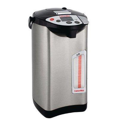 XXLselect Hot Water Dispenser Edelstahl | 5 Temperaturen | Elektrisch mit Pumpe | Ø300mm | 5 Liter