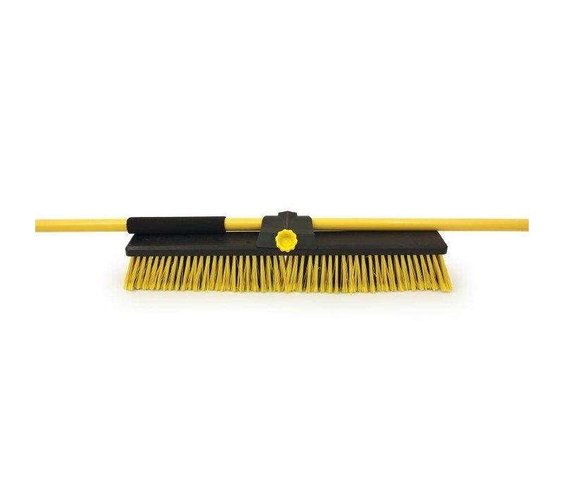 XXLselect Bezem Heavy Duty | Gemixte Haren | Neopreen Grip |  610(b)x1490(l)mm