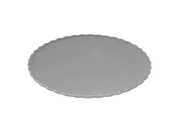 XXLselect Taartschotel - Grijs Porselein - Ø280x50(h)mm