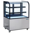 XXLselect Refrigerated showcase 270 Liter - Curved Glass - Schedules of Glass - 725 (d) x915 (b) x1275 (H) mm
