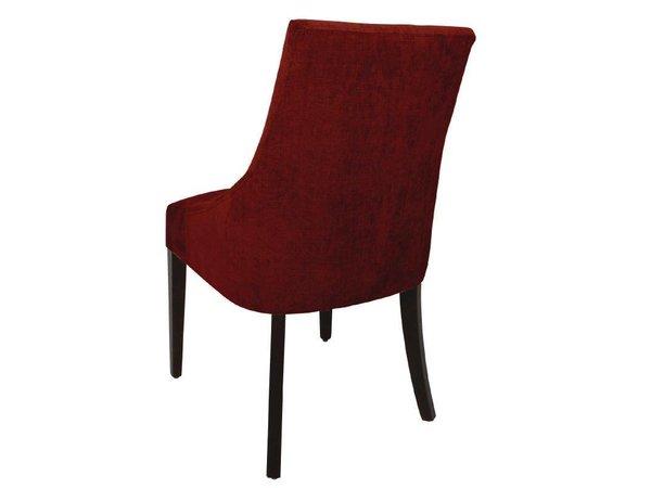 XXLselect Finesse Horeca Stoel - Rood Polyester - Berken Frame - 510(b)x620(d)x900(h)mm - 2 Stuks