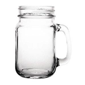 XXLselect Glazen Cocktailbeker - Weckpot Stijl - 450ml - 12 Stuks