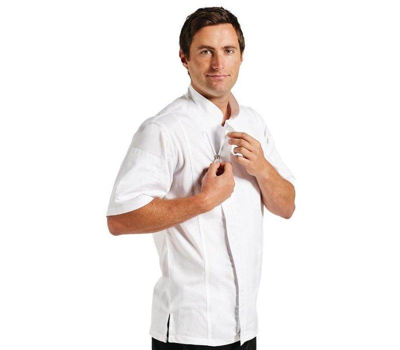 Chef Works Koksbuis Springfield met Rits - Chef Works - Korte Mouwen - Beschikbaar in 4 Maten - Wit