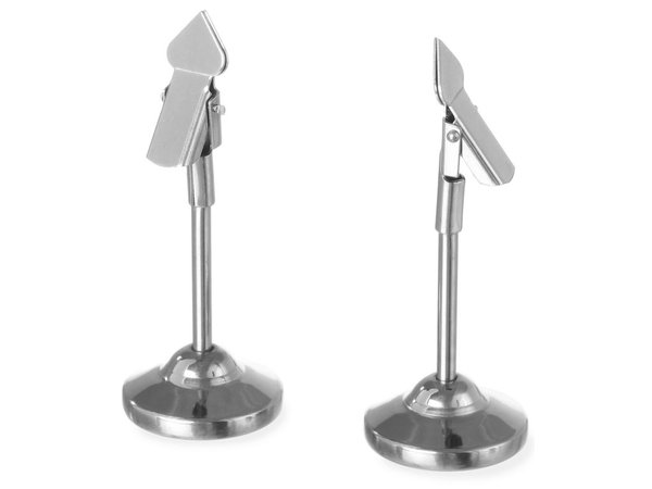 Menu Holder SS | Price per 2 Pieces | DELUXE
