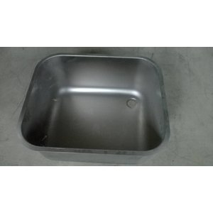 XXLselect Additional stainless steel serving Sink Sinks, Desks - 400x400x250 (h) mm - INCLUDING MOUNTING