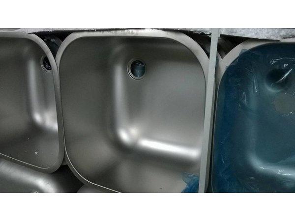 XXLselect Extra RVS Wasbak t.b.v Spoeltafels, Werktafels - 400x400x250(h)mm - INCLUSIEF MONTAGE