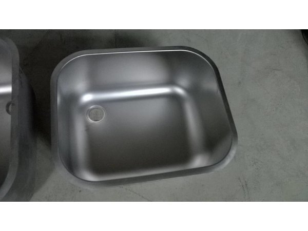 XXLselect Extra RVS Wasbak XL t.b.v Spoeltafels, Werktafels - 500x400x250(h)mm - INCLUSIEF MONTAGE