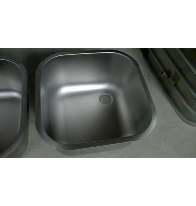 XXLselect Additional stainless steel Sink XXL serving Sinks, Desks - 600x500x300 (h) mm - INCLUDING MOUNTING