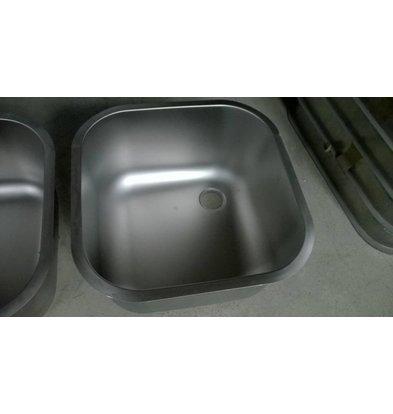 XXLselect Extra RVS Wasbak XXL t.b.v Spoeltafels, Werktafels - 600x500x300(h)mm - INCLUSIEF MONTAGE