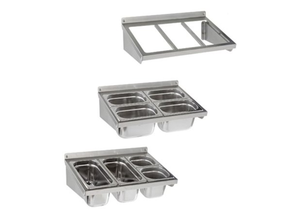 Sofinor Frame Gastronorm containers - stainless steel - Wall Mount - 1/1 GN - 560x370 mm