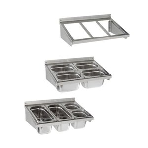 Sofinor Frame Gastronorm Bakken - RVS - Wandbevestiging - 2/1 GN - 1088x370 mm