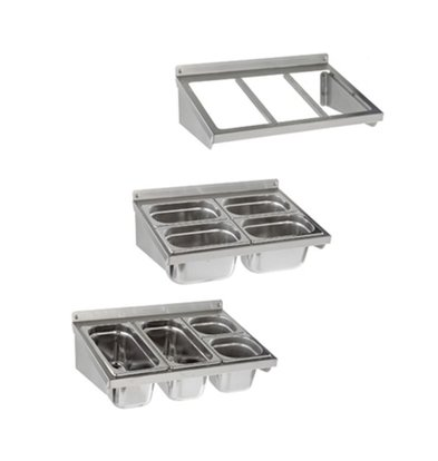 Sofinor Frame Gastronorm containers - stainless steel - Wall Mount - 2/1 GN - 1088x370 mm