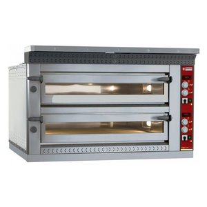 Diamond Pizza Oven Elektrisch Dubbel | 2x 4 Pizza's Ø35cm | 13,2kW | 1070x1010x(H)720mm
