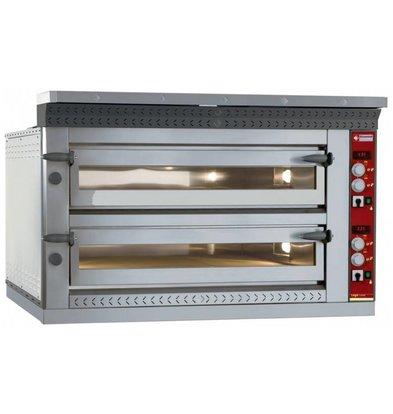 Diamond Pizza Oven Elektrisch Dubbel | 2x 4 Pizza's Ø35cm | 13,2kW | 1070x1010x(H)720mm