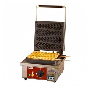 Diamond Waffel Lolly Machine - 4 Stuks - 305x440x(h)230mm - 1.6KW