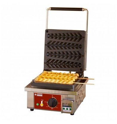 Diamond Lolly Waffle Machine - 4 Pieces - 305x440x (h) 230mm - 1.6KW