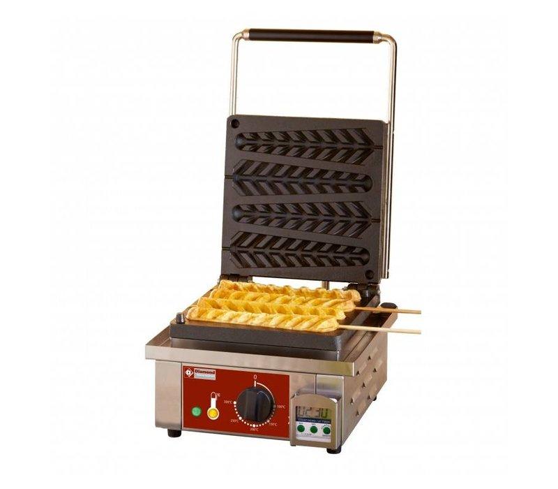 Diamond Lolly Waffle Machine - 4 Stück - 305x440x (h) 230mm - 1.6kW