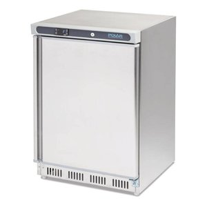 Polar Edelstahl Kühlschrank Haus - 150 Liter - 60x60x (h) 85cm