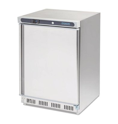 Polar Stainless steel catering fridge - 150 liters - 60x60x (h) 85cm