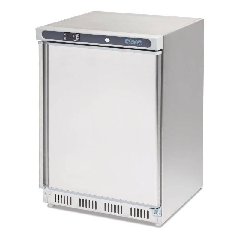 polar edelstahl k hlschrank catering 150 liter 60x60x h 85cm. Black Bedroom Furniture Sets. Home Design Ideas