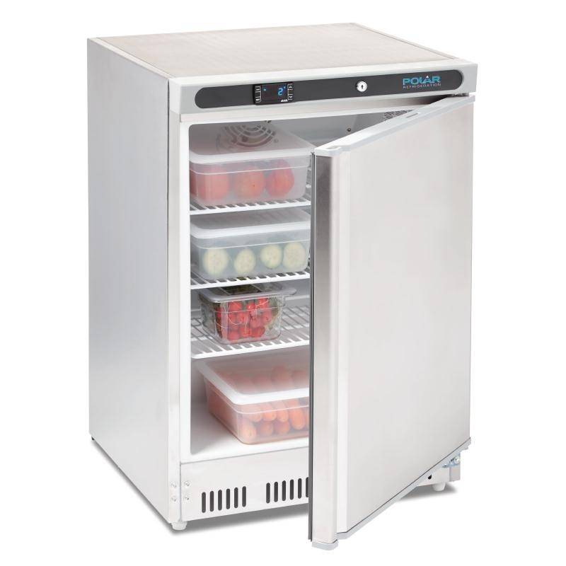 horeca rvs koelkast 150l kopen polar gacd080 xxlhoreca. Black Bedroom Furniture Sets. Home Design Ideas