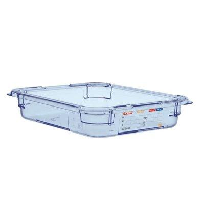 Araven Nahrungsmittelbehälter Blau ABS - GN1 / 2   65mm tief
