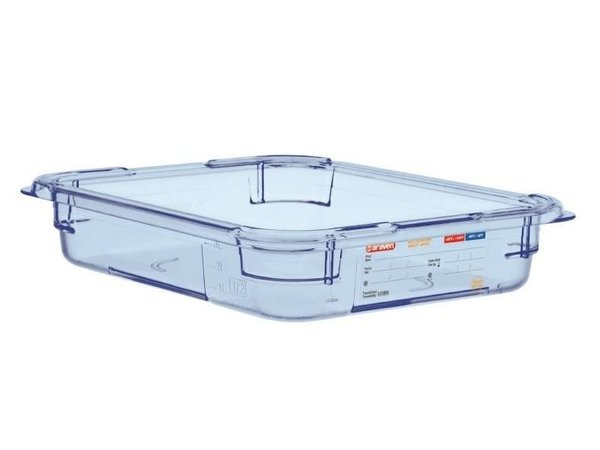 XXLselect Food Container Blue ABS - GN1 / 2   65mm Deep