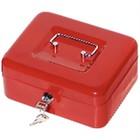 XXLselect Geldkistje Rood - 200x160x(h)70mm - met Kunststof Inzet - Ruimte voor Briefgeld