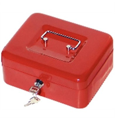 XXLselect Money Box Red - 200x160x (H) 70mm - with Plastic Commitment - Space for money Letter