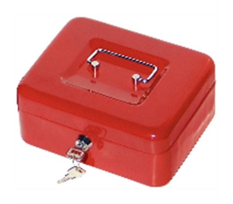 XXLselect Geld-Kasten-Rot - 200x160x (H) 70 mm - mit Kunststoff-Engagement - Raum für Geldbrief