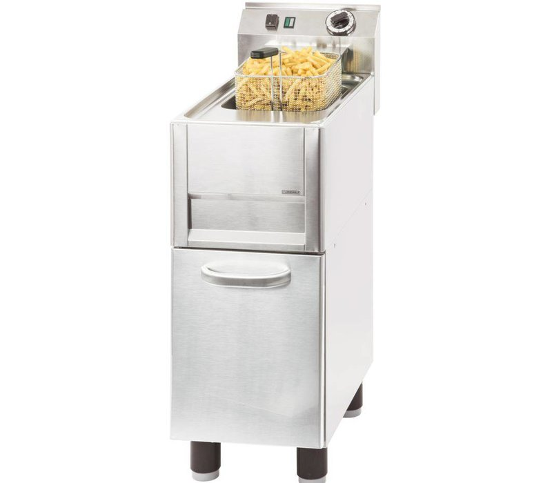 Casselin fryer | electric | 8 Liter | 400V | 6 kW | With Mount | 310x600x (h) 860-920 mm