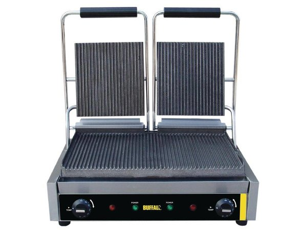 Buffalo Budget Contact Grill Double Ribbed - 21 (h) x47,5x32 - 3000W