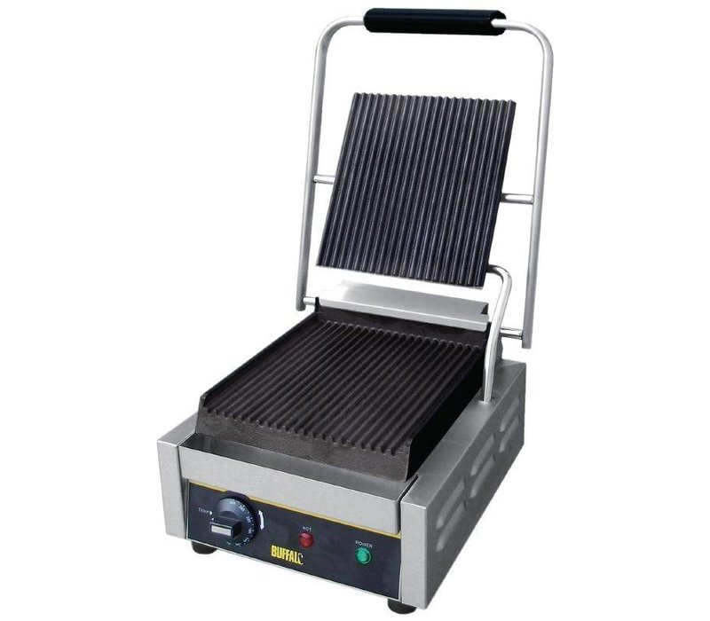 Buffalo Contact Grill Budget Small - Ribbed - 29x31x (h) 29cm - 1500W