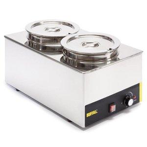 Buffalo Foodwarmer 2X6 Liter   RVS   230V/1500W   34x54x(h)27cm