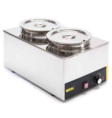 Buffalo Foodwarmer 2X6 Liter | Stainless steel | 230V / 1500W | 34x54x (h) 27cm