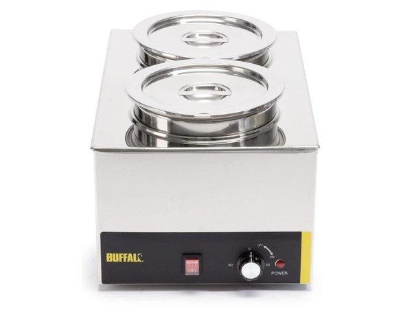 Buffalo Foodwarmer 2X6 Liter | RVS | 230V/1500W | 34x54x(h)27cm
