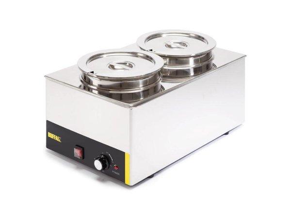 Buffalo Kostwärmer 2X6 Liter | SS | 230V / 1500W | 34x54x (h) 27 cm