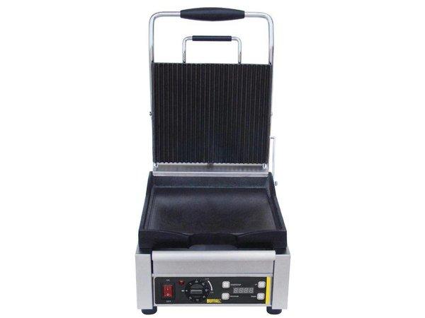 Buffalo Kontakt Grill Heavy Duty - Gerippt / Smooth - 29x40x (h) 24cm - 2000W - Digital-