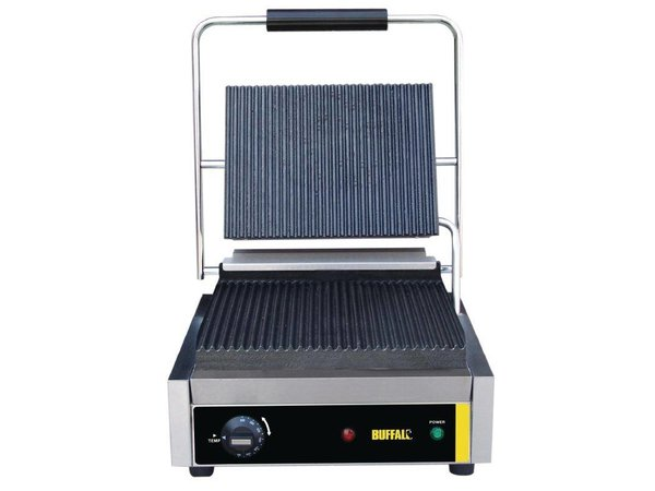 Buffalo Catering Kontakt Grill-Large | Corded / gerippt | 360x320x (h) 210mm | 2000W