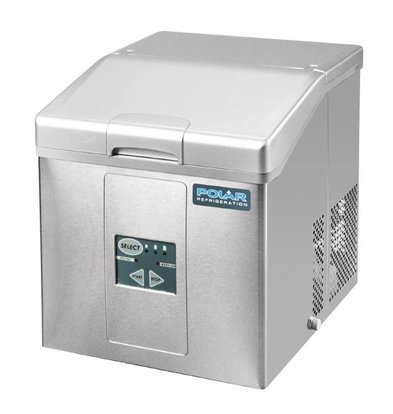 Polar IJsblokjesmachine met Uitneembare Voorraadmand - 3 Instelbare Maten - 17kg/24u - 2 jaar garantie